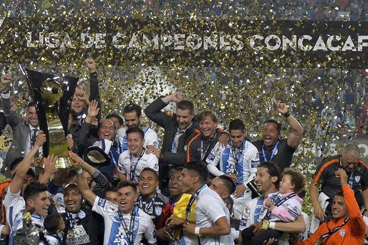 Con un marcador global de 2-1, el Pachuca conquistó su quinto título de la Concacaf. (Foto Prensa Libre: AFP).