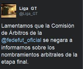 La Liga Nacional mostró su rechazo por la medida que tomó la Comisión de Árbitros.
