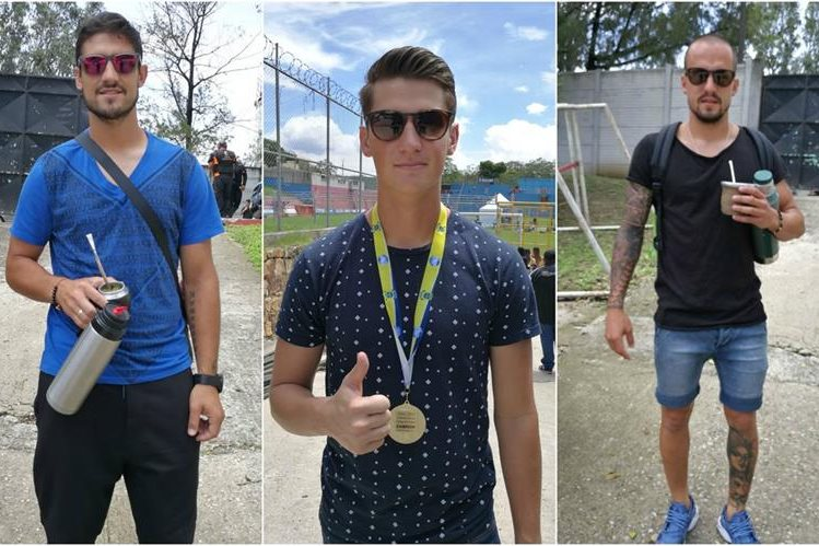 Darío Flores, Nicholas Hagen y Pablo Mingorance, ya están en El Trébol. (Fotos Prensa Libre: Francisco Sánchez)