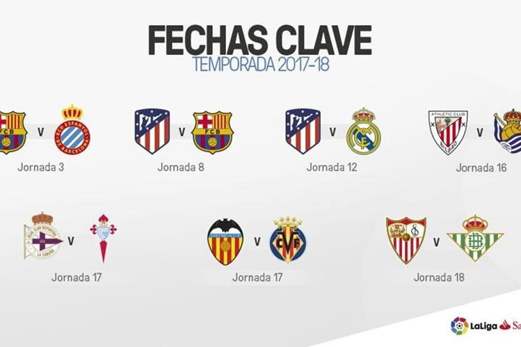 Estas son las principales fechas de la próxima temporada en La Liga. (Foto Prensa Libre: La Liga)