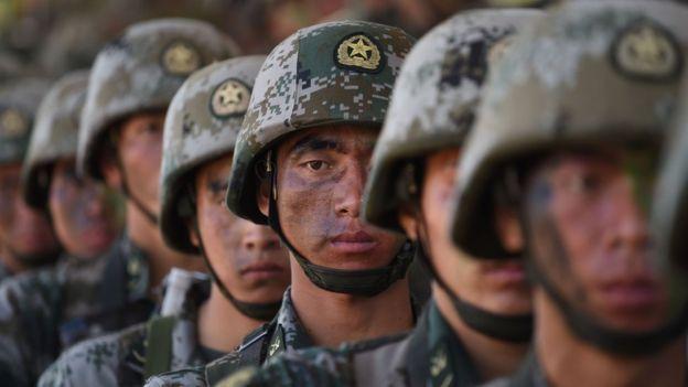 En China hay un millón más de personas enlistadas en el ejército que en Estados Unidos. GETTY IMAGES