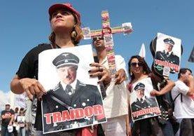 Brasileños protestas contra Temer. (Foto Prensa Libre: EFE)