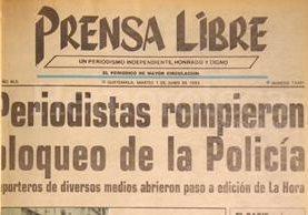 Titular de Prensa Libre del 1 de junio de 1993. (Foto: Hemeroteca PL)