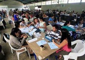 En el Parque de la Industria se concentra toda la organización electoral. (Foto Prensa Libre: Hemeroteca PL)