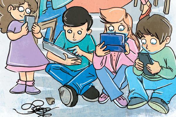 <p>Internautas están cada vez más atentos a los dispositivos móviles que a relacionarse con personas reales. (Infografía Prensa Libre: Kevín Ramírez)</p>
