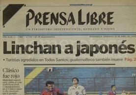 Titular del 30 de abril de 2000. (Foto: Hemeroteca PL)