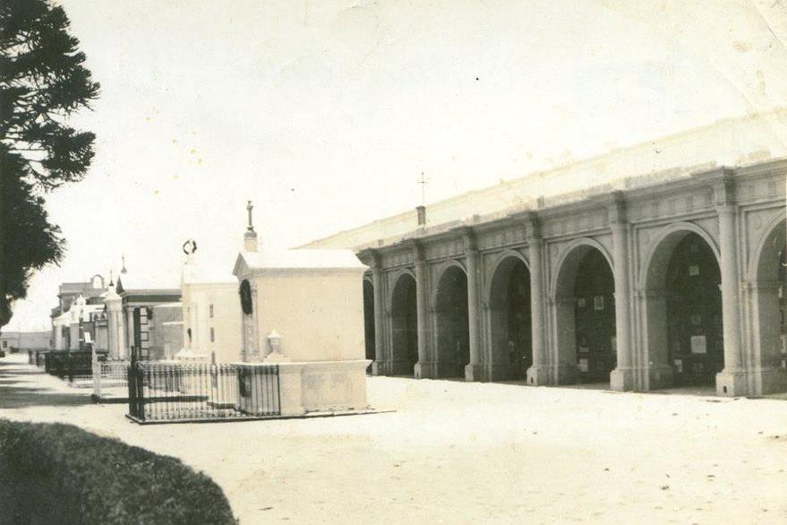 Cementerio General de Guatemala, en la década de 1890.  (Foto Prensa Libre: Cortesía Museo Nacional de Historia de Guatemala).