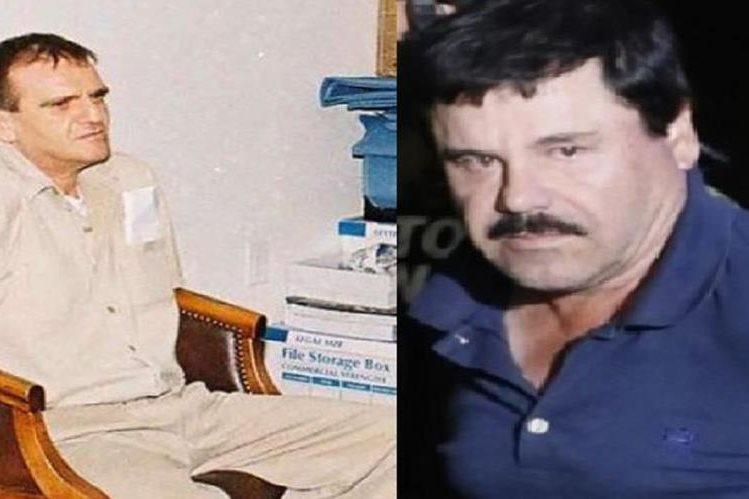 """Héctor Palma Salazar (i) junto a su socio del narcotráfico, Joaquín """"Chapo"""" Guzmán."""