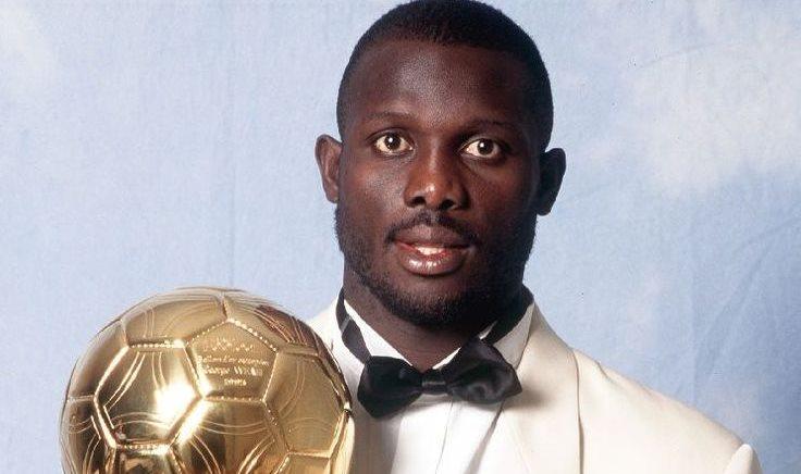 El exfutbolista liberiano, George Weah, Balón de Oro de la Fifa en 1995, está cerca de convertirse en presidente de su país. (Foto Prensa Libre: Hemeroteca)