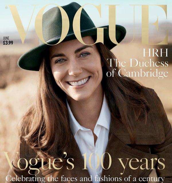 La duquesa de Cambridge fue fotografíada por Josh Olins para la revista Vogue. (Foto Prensa Libre: AP)