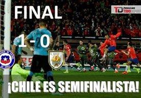 Chile le ganó 1-0 a Uruguay avanzó a las semifinales de la Copa.