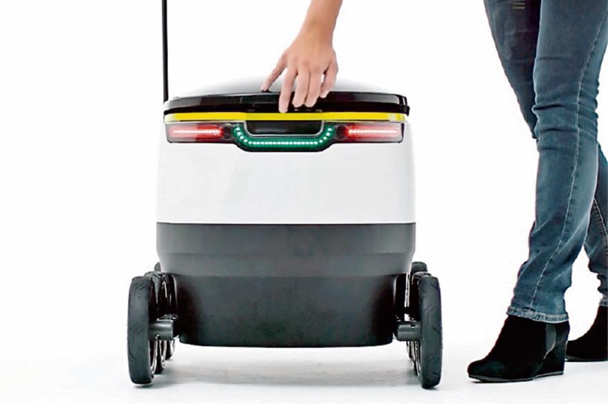 Hasta 20  libras en productos   caben en el robot de Starship. (Foto Prensa Libre: Hemeroteca PL).