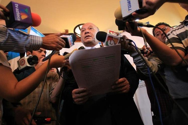 El ministro de Cultura, Luis Chea Urruela, denunció un caso de corrupción.( Foto Prensa Libre: Esbin García)