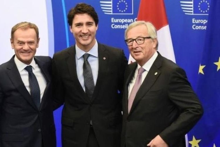 """El primer ministro canadiense Justin Trudeau dijo que el acuerdo comercial es """"una buena noticia para la clase media de Canadá"""". AFP/GETTY IMAGES"""