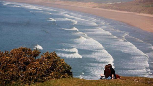 La criatura apareció en la playa de Rhossili, en la costa sur de Gales. GETTY IMAGES