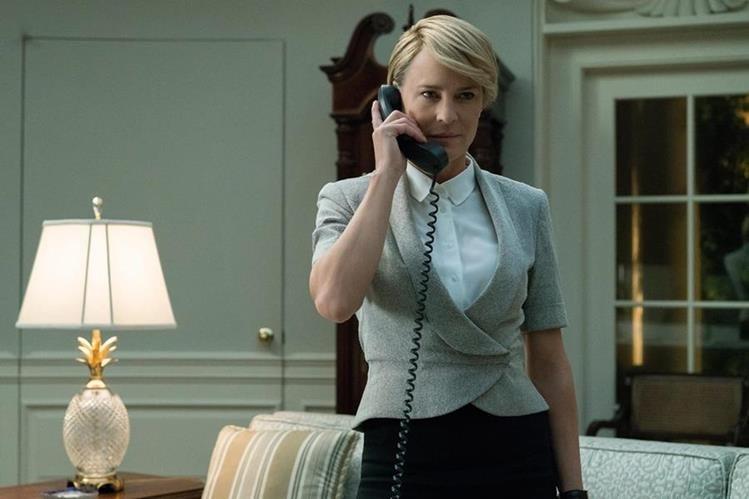 Claire Underwood -Robin Wright- será la protagonista de House of Cards en la temporada final (Foto Prensa Libre: Netflix).