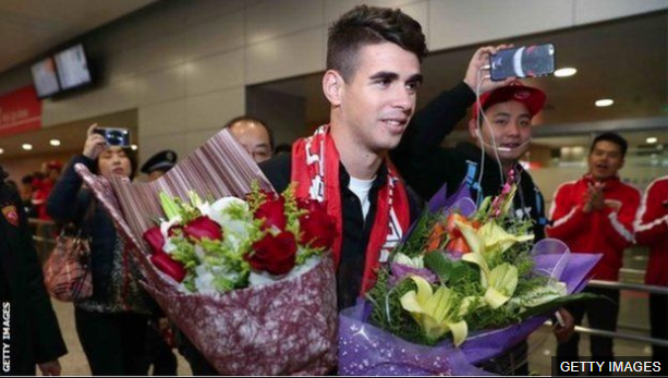 Oscar fue una de las primeras grandes contrataciones del fútbol chino. (Foto Prensa Libre: BBC Mundo)
