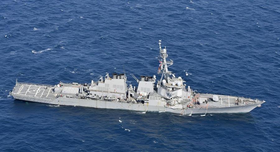 Resultado de imagen de USS Fitzgerald y el buque mercante ACX Crystal