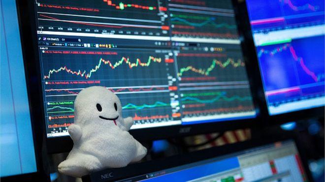 Snap, la empresa propietaria de Snapchat, cerró su el día de su estreno en Bolsa con un aumento del 44% en el valor de las acciones. (GETTY IMAGES)