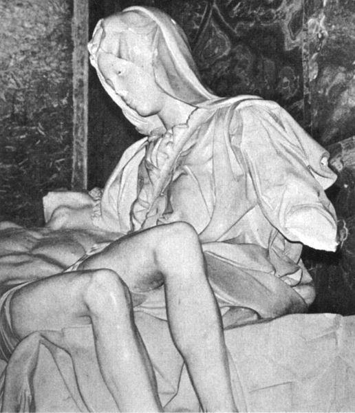 Vista del brazo cercenado de La Piedad. (Foto: Wikipedia)