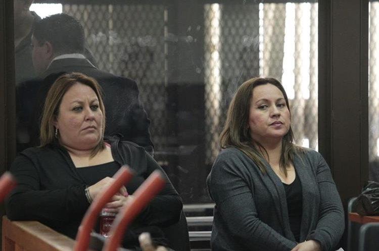 Sobrina de Sandra Torres y esposa del Taquero durante la audiencia de primera declaración por el caso de la muerte de Byron Lima. (Foto Prensa Libre: Carlos Hernández)