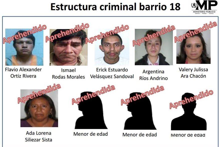 El MP precisó la identidad de los capturados esta mañana. (Foto Prensa Libre: MP)
