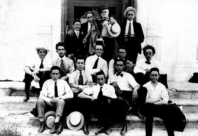 Huelgueros de la USAC en la década de los años 20. (Foto: Hemeroteca PL)
