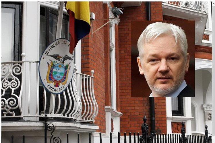 Julian Assange se encuentra refugiado desde junio del 2012 en la embajada de Ecuador en Londres.