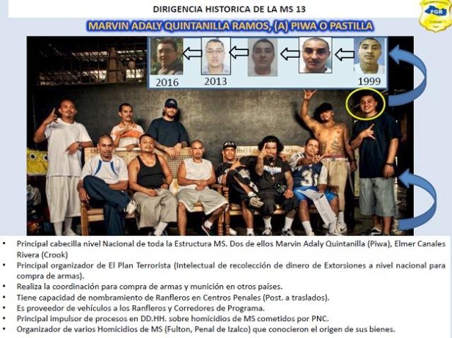 Los integrantes de La Federación, el grupo de dirigentes de la Mara Salvatrucha. (Foto Prensa Libre: Estuardo Paredes)