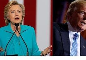 Hillary Clinton,(i) y Donald Trump, cancidatos presidenciales 2016.(Foto Prensa Libre:AFP).