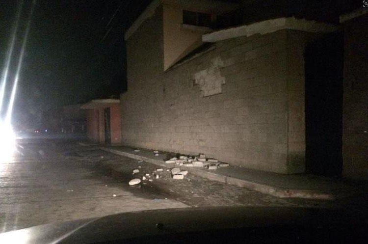 Daños en Quetzaltenango.