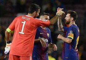 Buffo, portero de la Juventus, reconoce el talento de Messi y Cristiano Ronaldo. (Foto Prensa Libre: AFP).