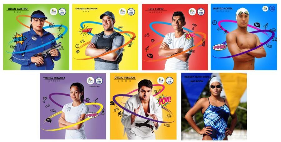 El COES invita a los salvadoreños a votar por el abandero de la delegación olímpica. (Foto Prensa Libre: Twitter Team ESA)