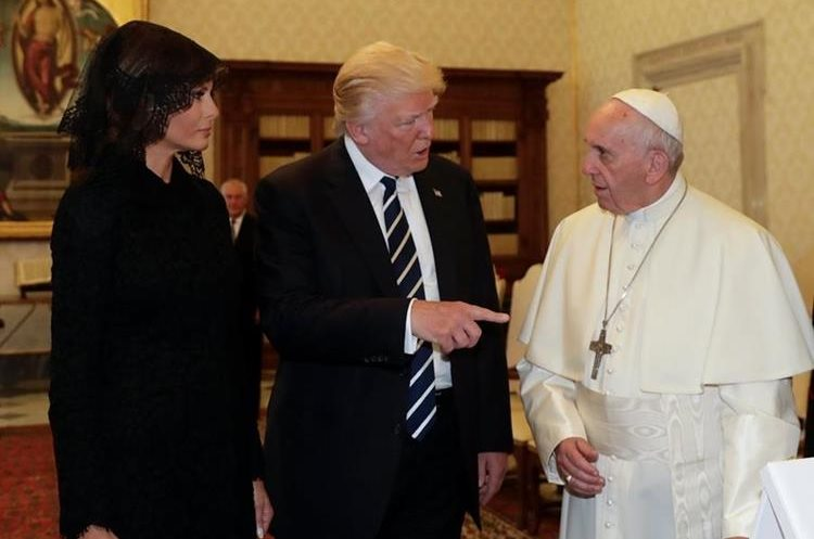 Papa Francisco y Donald Trump se reunieron en audiencia privada