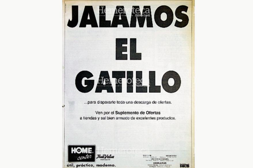 La publicidad aprovechaba la coyuntura para promocionar marcas, con cierta polémica. Anuncio del 1 de julio de 1995. (Foto: Hemeroteca PL)