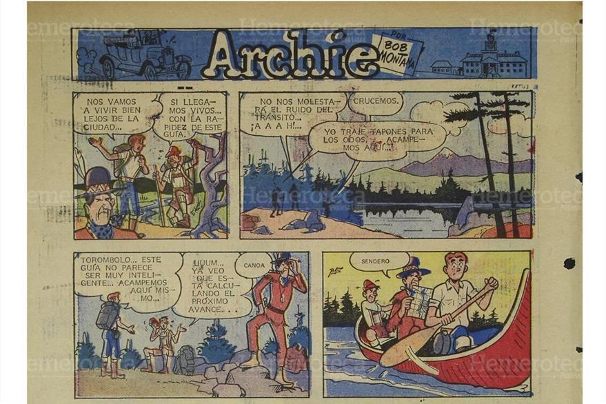 Archie, la famosa tira cómica publicada en Prensa Libre, en una edición de octubre de 1971. (Foto: Hemeroteca PL)