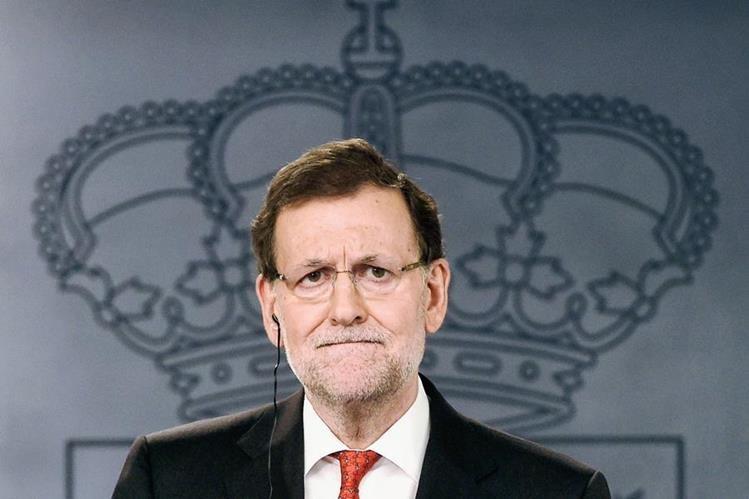 """Mariano Rajoy, asegura que Cataluña región """"no será independiente"""". (Foto Prensa Libre: AFP)."""
