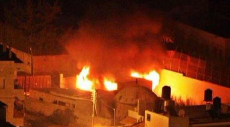 La tumba del patriarca José fue incendada en Cisjordania. (Foto: @LANACIÓN).