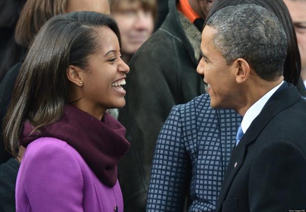 Barack Obama y su hija Malia. (Foto Prensa Libre: AFP)