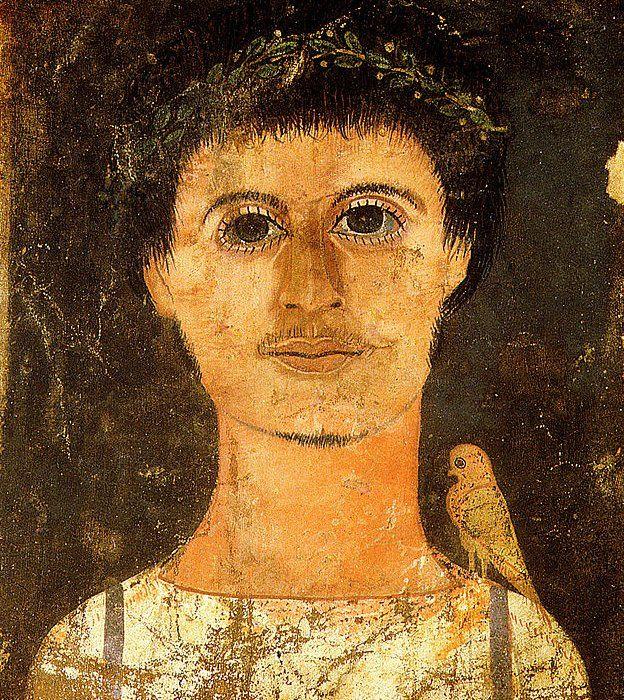 No todos los retratos son de la misma calidad, pero éste nos muestra a ba, que era el alma o el espíritu, representado con un pájaro. GETTY IMAGES