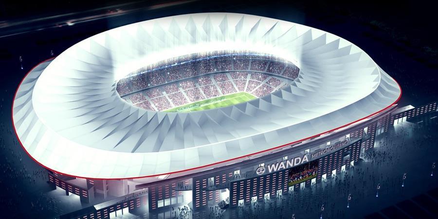 Así lucirá el nuevo estadio del Atlético de Madrid con capacidad para 70 mil personas. (Foto Prensa Libre: Atlético de Madrid)