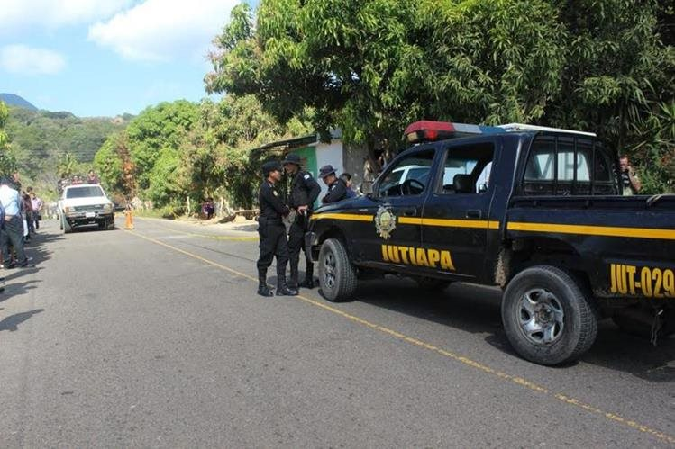 Lugar donde ocurrió el ataque en Moyuta, Jutiapa. (Foto Prensa Libre: Óscar González).