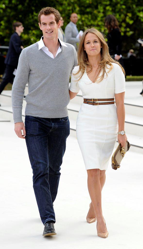 El tenista británico Andy Murray y su esposa, Kim Sears, esperan el nacimiento de su primer hijo. (Foto Prensa Libre: EFE)