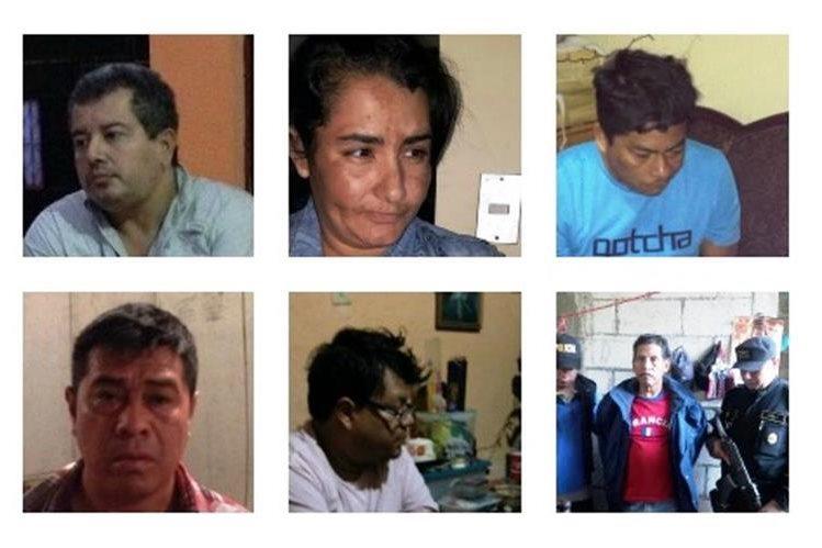Los detenidos están señalados por lavado de dinero y asociación ilícita, los operativos son en seis departamentos. (Foto Prensa Libre: PNC)