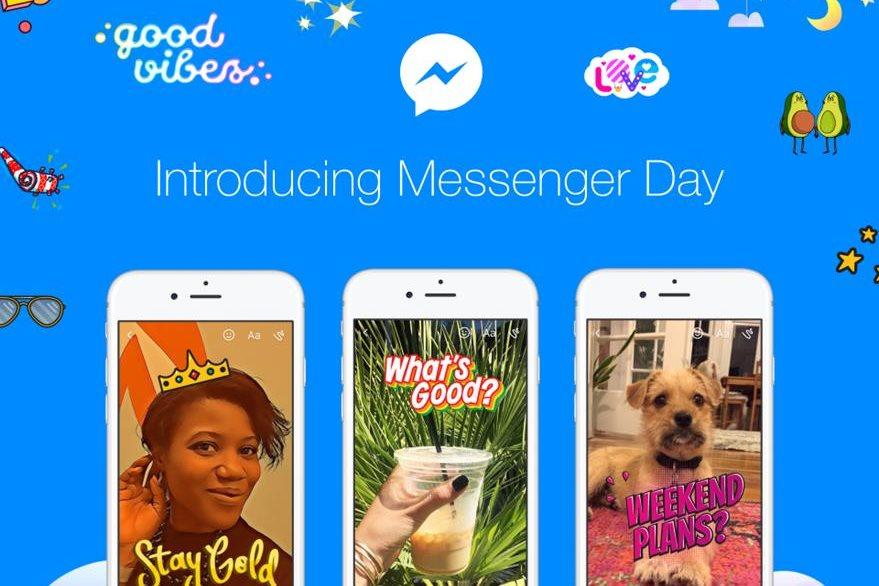 La nueva función de Messenger permite compartir fotos y videos efímeros a los que se le puede agregar stickers y texto. (Foto Prensa Libre: Facebook).