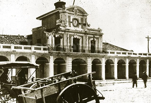El Palacio Real, edificio donde se firmó el Acta de la Independencia de Centroamérica fue dañado y posteriormente demolido. (Foto: Hemeroteca PL)