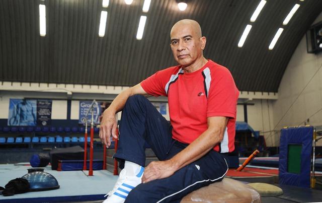 Sergio Tejeda comparte su amor a la vida y la gimnasia. (Foto Prensa Libre: Francisco Sánchez).