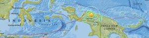 Área del epicentro del sismo.