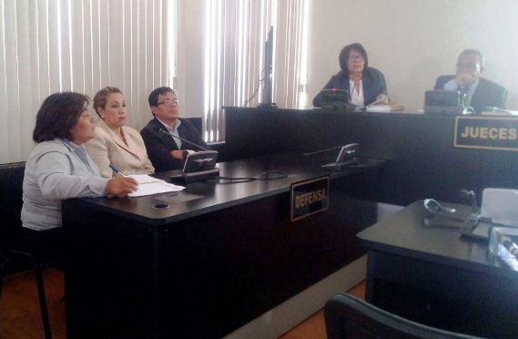 Magistrada Blanca Stalling en la Sala Tercera de Apelaciones recibe medida sustitutiva. (Foto Prensa Libre: Érick Ávila)