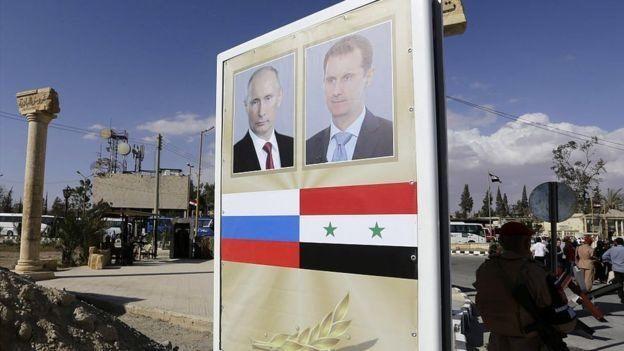 El compromiso de Rusia con Siria ha sido clave para la supervivencia de Al Assad. LOUAI BESHARA/AFP/GETTY IMAGES